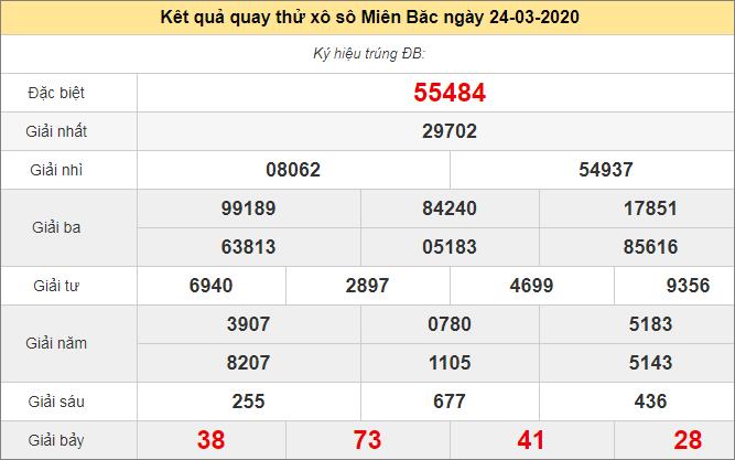 Quay thử kết quả xổ số kiến thiết đài Quảng Ninh thứ ba ngày 24/3/2020