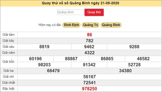 Quay thử xổ số MT - XS Quảng Bình hôm nay T5 ngày 21/5/2020