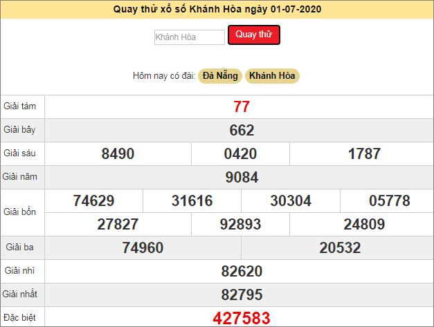 Quay thử xổ số MT - XS Khánh Hòa hôm nay T4 ngày 1/7/2020