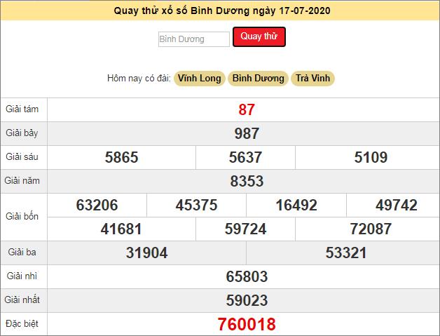 Soi Cầu Xsbd 17 7 2020 Dự đoan Xổ Số Binh Dương Hom Nay Thứ 6 Ngay 17 7