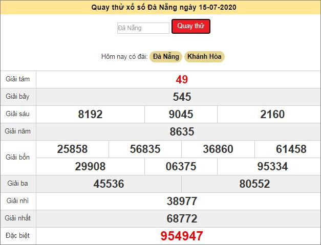 Quay thử xổ số MT - XS Đà Nẵng hôm nay T4 ngày 15/7/2020
