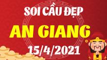 Soi cầu XSAG 15/4/2021 - Dự đoán xổ số An Giang 15/4/2021 thứ 5
