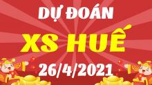 Soi cầu XSTTH 26/4/2021 - Dự đoán xổ số Thừa Thiên Huế 26/4 thứ 2