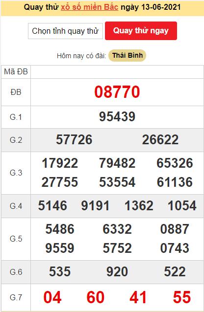 Quay thửXSMBngày 13/6/2021 lấy may hôm nay