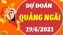 Soi cầu XSQNG 19/6/2021 - Dự đoán xổ số Quảng Ngãi 19/6/2021 thứ 7