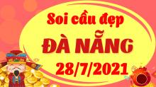 Soi cầu XSDNG 28/7/2021 - Dự đoán xổ số Đà Nẵng 28/7/2021 thứ 4
