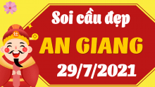 Soi cầu XSAG 29/7/2021 - Dự đoán xổ số An Giang 29/7/2021 thứ 5